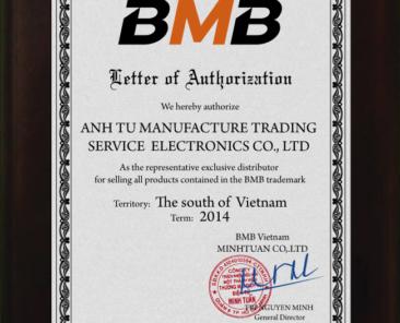 Certificate BMB Miền Nam 2014