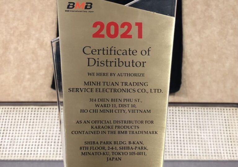 Distributor Certificate 2021