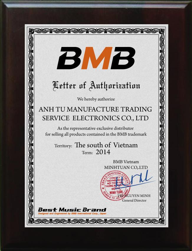 ertificate BMB Miền Nam 2014