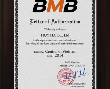 Certificate BMB Miền Trung 2014