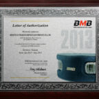 Certificate BMB Việt Nam 2013