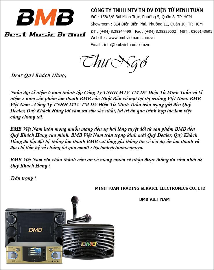 Kính gửi quý khách hàng của bmb việt nam gửi thông tin dự án karaoke