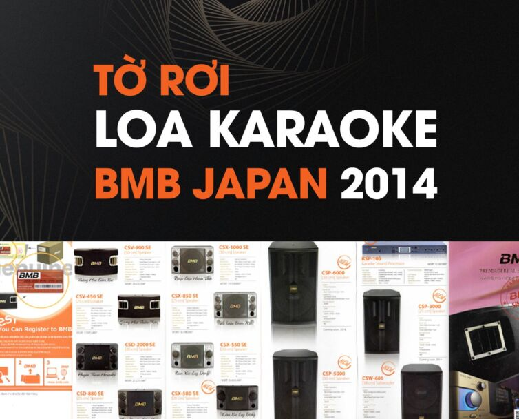 tờ rơi loa karaoke bmb