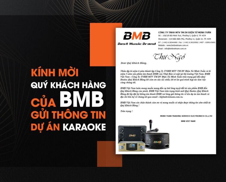 Kính mời quý khách hàng của bmb gửi thông tin dự án
