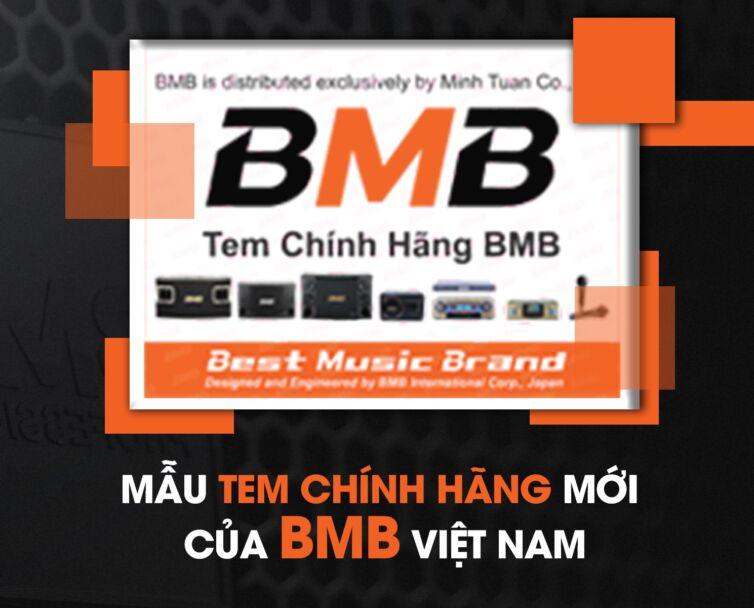 Mẫu tem chính hãng mới của bmb việt nam